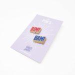 pin's drôle bim bam cadeau pour ami