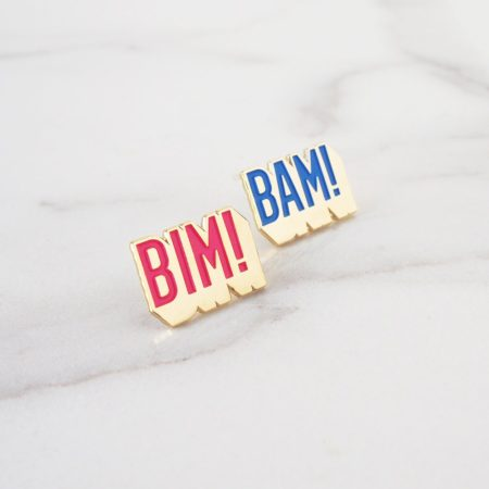 duo de pin's à message bim bam boum