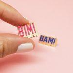 duo de pin's en émail bim bam