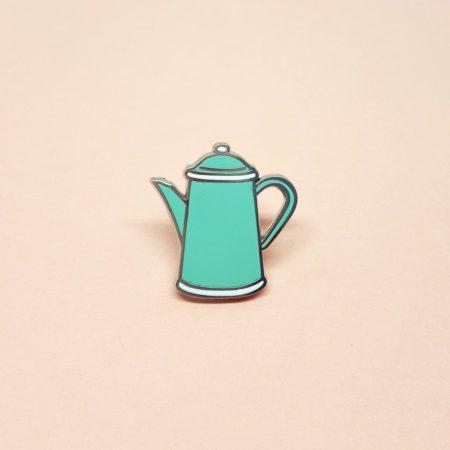 pin's vintage théière en émail