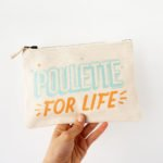 trousse coton poulette for life