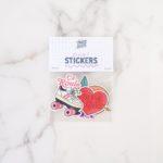 pack de 4 stickers illustrations rigolotes