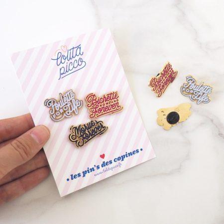 collection de pin's cadeau pour copines