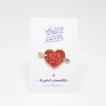 broche à message amour coeur