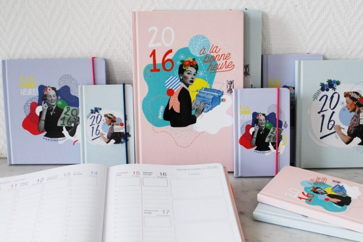collection d'agendas oberthur illustrés