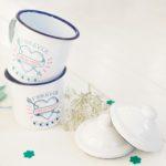 mugs en émail décoration de mariage un beau jour