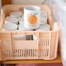 rangement mug en céramique garde la pêche