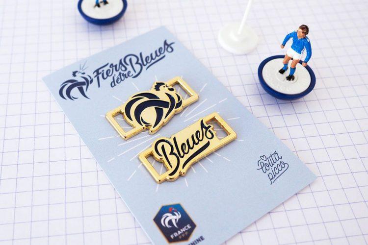 lace locks fières d'être bleues équipe de france football feminine