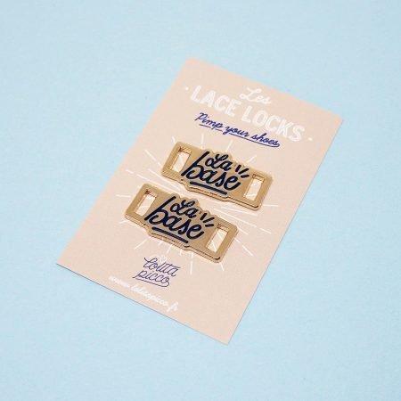 paire de lace locks la base avec son packaging