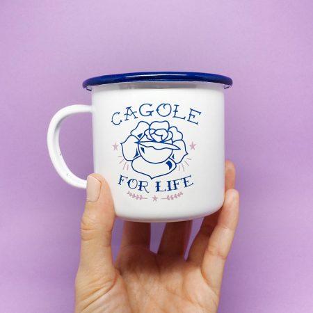 mug émaillé cagole for life cadeau amie drôle