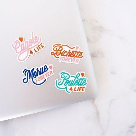 stickers pour ordinateur avec surnom entre copines