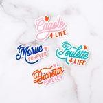 lot de 4 stickers en vinyle cagole morue poulette bichette